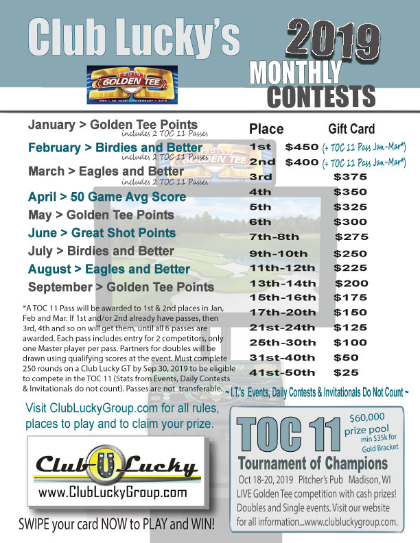 Monthly Contests – Club Lucky Group Inc